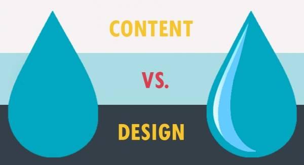 Контент vs дизайн: что важнее?