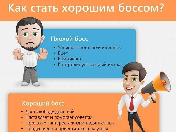 Как стать хорошим боссом? (инфографика)