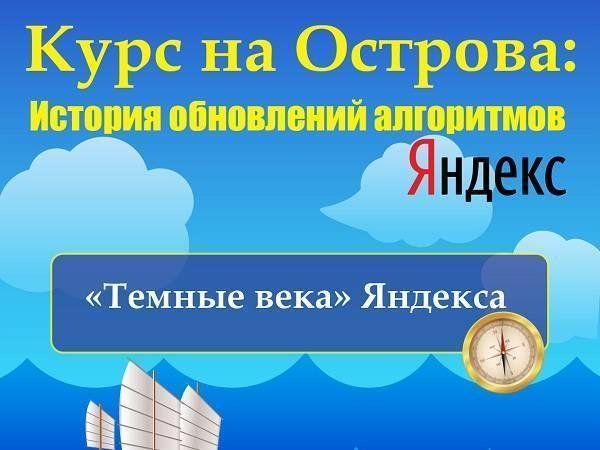 Курс на Острова: История обновлений алгоритмов Яндекс (Инфографика)