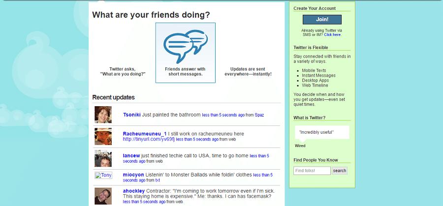 «Твиттер» в октябре 2007