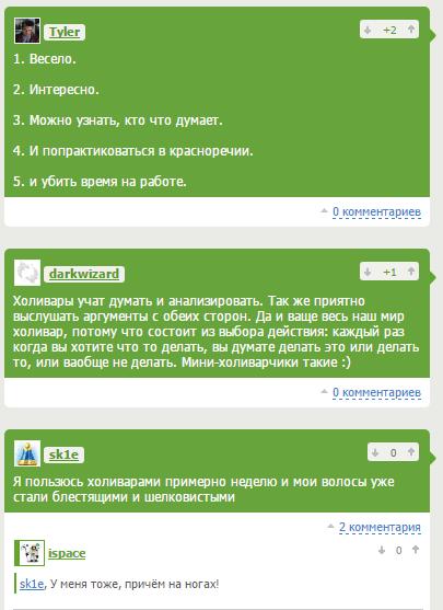 Что думают о холиварах пользователи Рунета