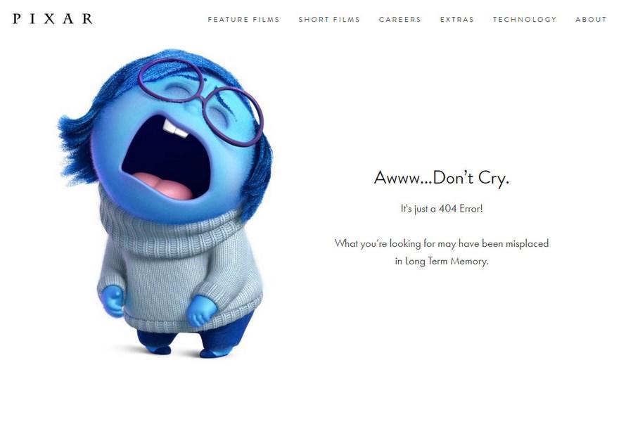 Страница 404 Pixar