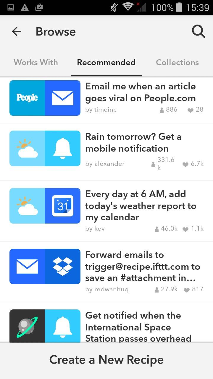 Примеры: «Если завтра пойдет дождь, пришлите уведомление на телефон», «каждый день в 6 утра прогноз погоды отправляется на мой календарь» и т.д.