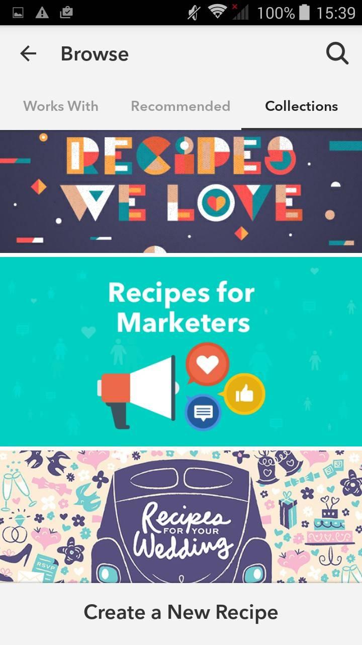 «Рецепты которые мы любим», «Рецепты для маркетологов», «Рецепты для вашей свадьбы»