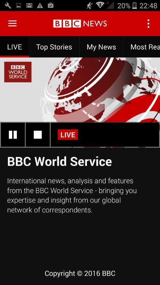 Радио BBC работает круглосуточно
