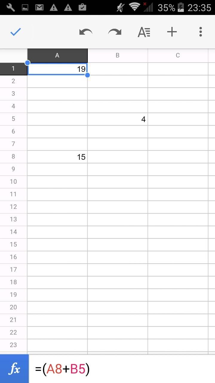 Такую вот таблицу можно создать в приложении