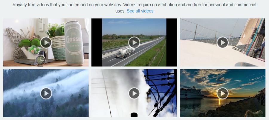 Примеры видео на stockio.com