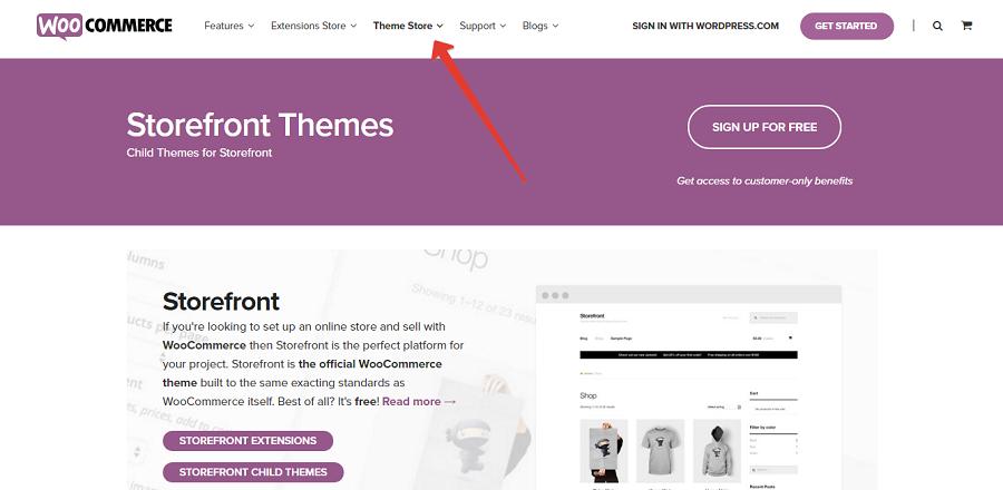 Storefront и ее дочерние темы можно найти на официальном сайте WooCommerce
