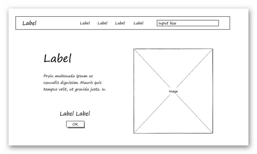 Прототип страницы сайта в Mockplus