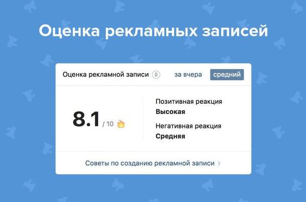 Оценка рекламной записи «ВКонтакте» – полезный инструмент для анализа фидбэка целевой аудитории