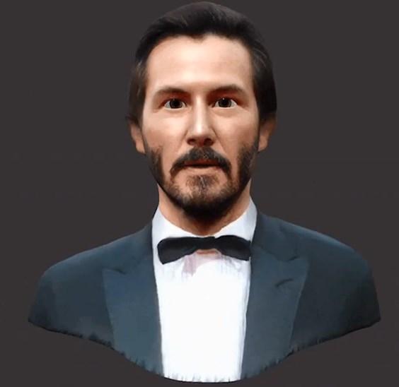 Так выглядит аватар для Киану Ривза, полученный с одной фотографии из Google