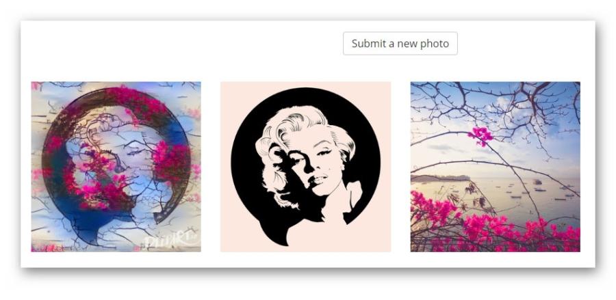 Нейросеть наложила одно изображение на другое: слева – результат, посередине – исходная картинка, справа – выбранный стиль