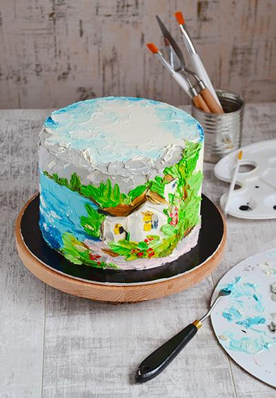 Фото моего первого торта не сохранились, но сейчас мои работы выглядят вот так