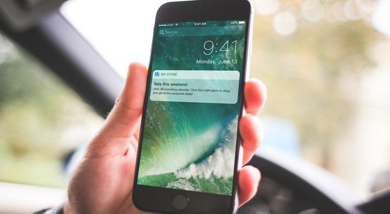 Так выглядят push-уведомления на экране смартфонов – их невозможно не заметить