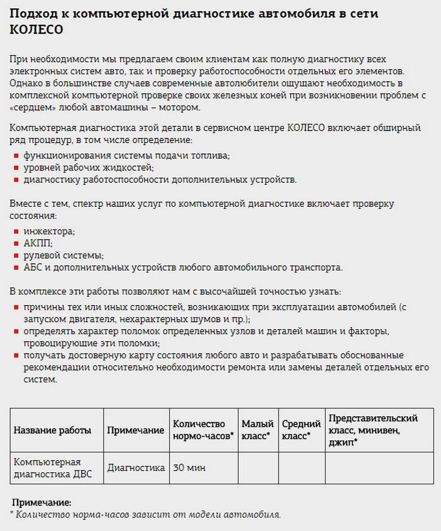 Подробное описание расценки на услугу «Компьютерная диагностика автомобиля