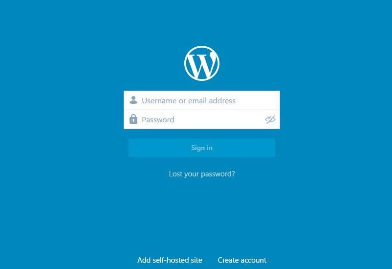 Авторизуйтесь с помощью учетной записи WordPress.com