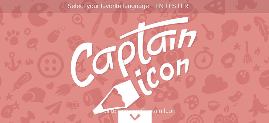 Первый экран проекта Captain Icon