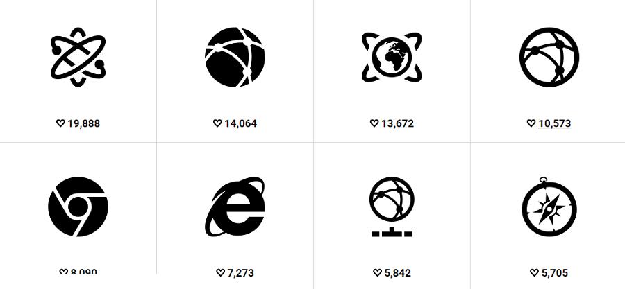 Стильные черно-белые иконки от iconmonstr.com