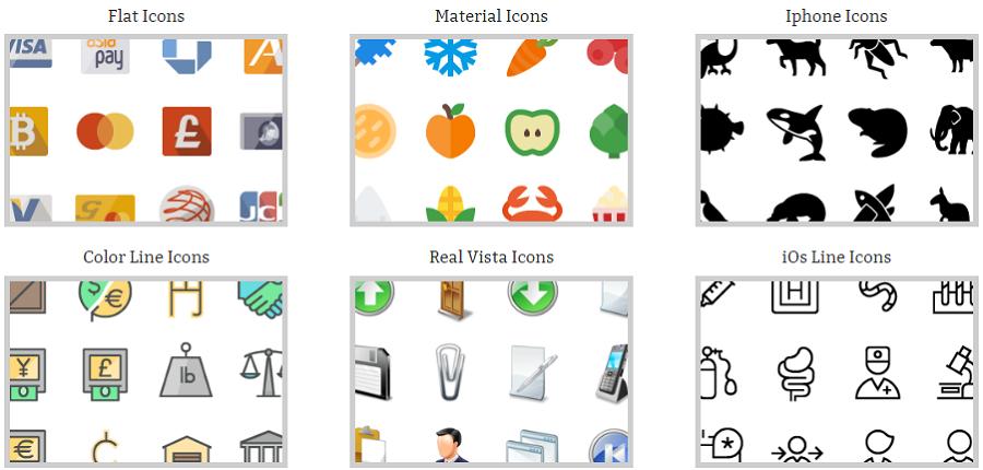 Примеры сетов на iconshock.com