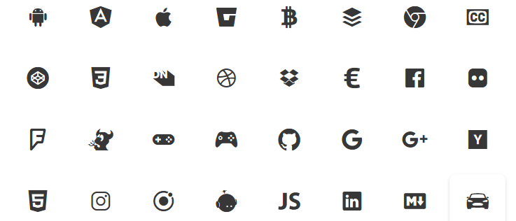 Примеры иконок от Ionicons