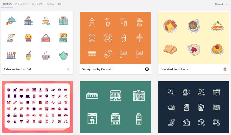 Примеры иконок на iconstore.co