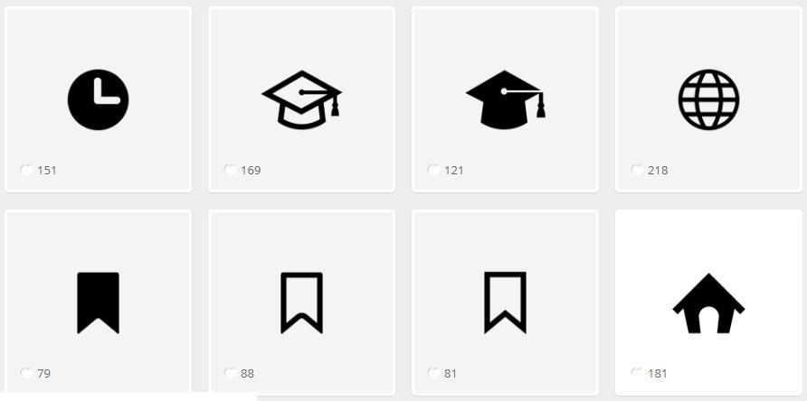 Так выглядят иконки на endlessicons.com