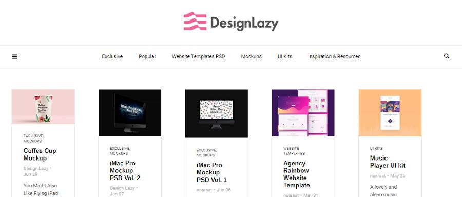 Главная сайта designlazy.com