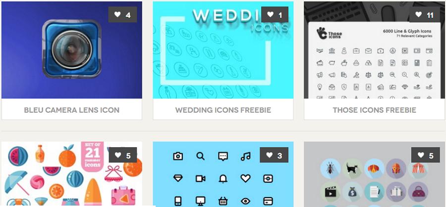 Примеры бесплатных иконок с bestpsdfreebies.com. Если подпишетесь на рассылку, пришлют в подарок даже премиум-набор