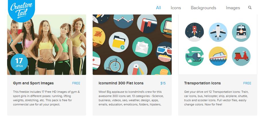 Иконки и картинки от Creative Tail