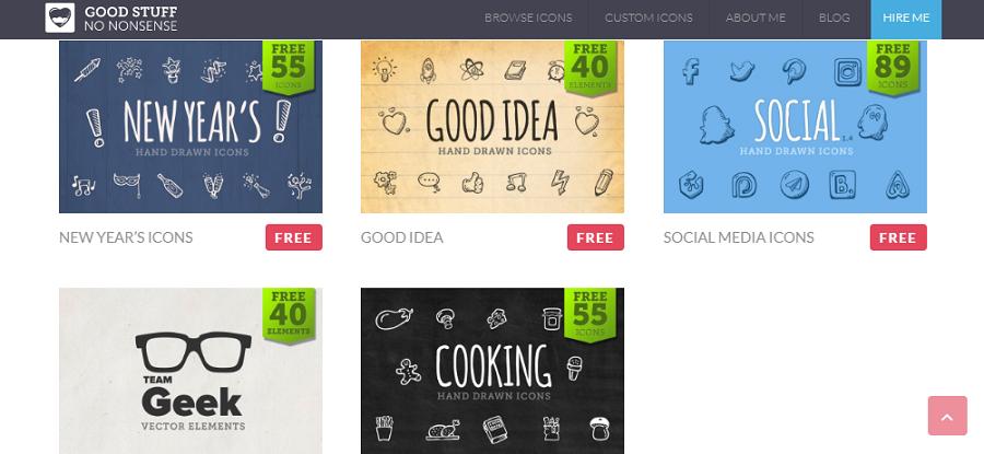 Бесплатные наборы иконок на goodstuffnononsence.com