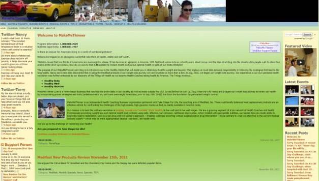 Потребитель, желающий похудеть, может запутаться в автомобилях, изображениях пляжа и ссылках на форум поддержки