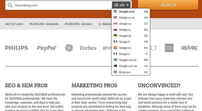 SEMrush — удобный инструмент анализа поисковых кампаний конкурентов