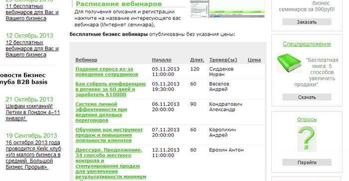 Размещайте информацию о ваших вебинарах на тематических сайтах