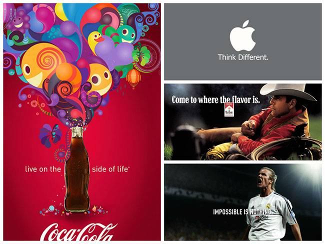 Рекламные постеры Coca-cola, Apple, Marlboro и Adidas