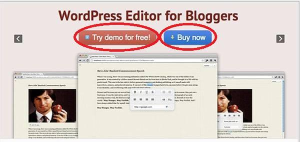 Две СТА-кнопки: «Попробовать демо-версию бесплатно» и «Купить сейчас»