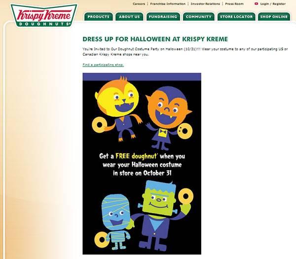 Приходи к нам 31-го октября в хэллоуинском костюме и получи БЕСПЛАТНЫЙ пончик