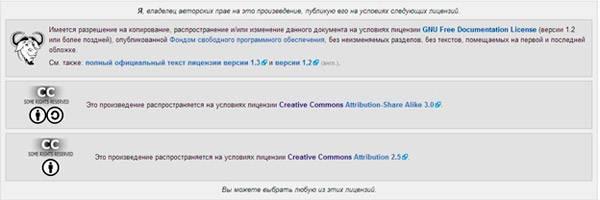 Свободная лицензия: условия использования фото устанавливает автор