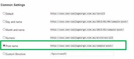 Редактирование постоянной ссылки в WordPress