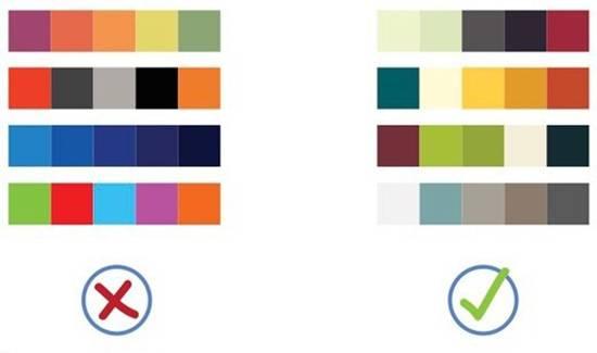 Используйте не более 5 цветов. Убедитесь, что они сочетаются друг с другом