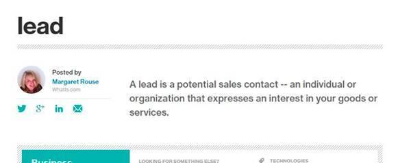Один из авторов IT-энциклопедии WhatIs.com дает следующее определение: лид — это контактная информация потенциального клиента, который заинтересовался вашим товаром или услугой