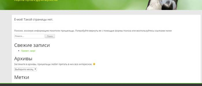 Веб-разработка: Вы русифицировали страницу ошибки 404
