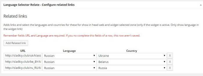 Веб-разработка: Указываем URL, язык и страны