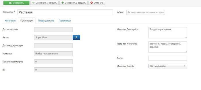 Веб-разработка: Указываем мета-данные категории