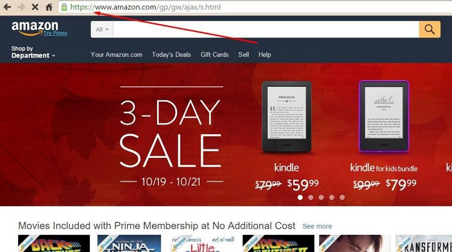 Amazon использует протокол HTTPS. Не отставайте от лидера