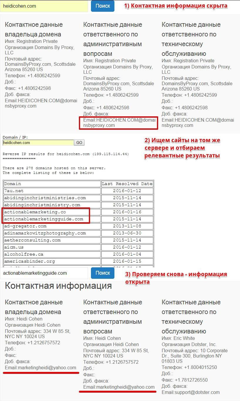как скрыть данные о владельце домена деревянные