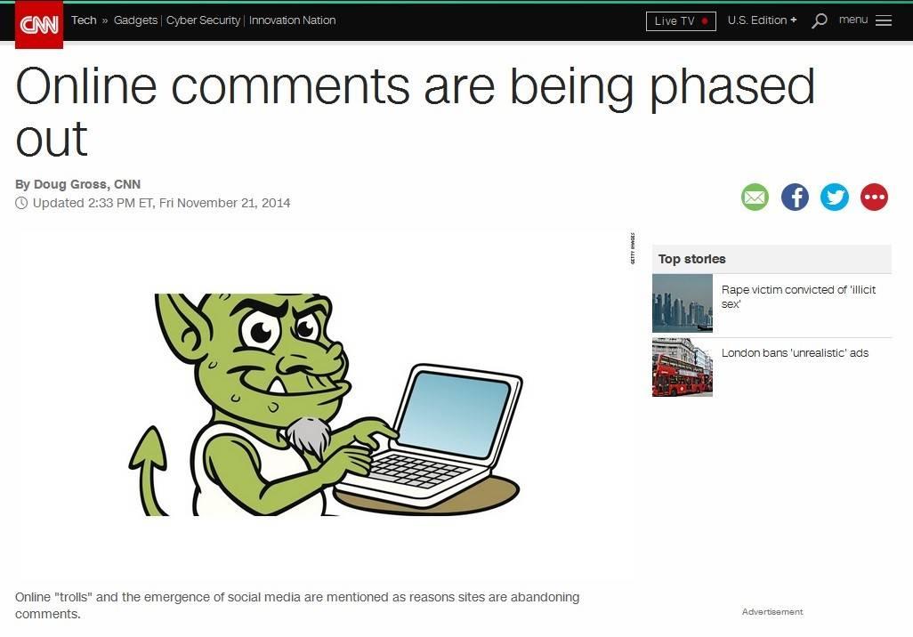 CNN решил закрыть комментирование своих материалов из-за троллей и социальных сетей