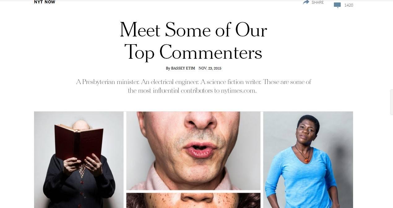 New York Times знакомит своих читателей с самыми лучшими комментаторами