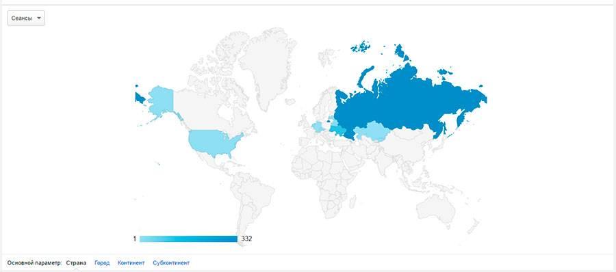 Внизу можно выбрать сортировку по странам, городам, континентам и субконтинентам