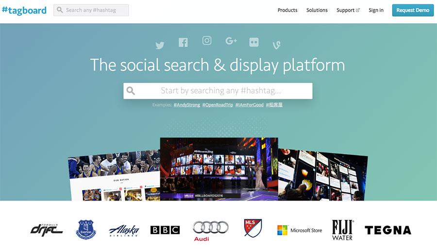 Очень быстро – Tagboard прекрасно справляется с поиском нужных хештегов