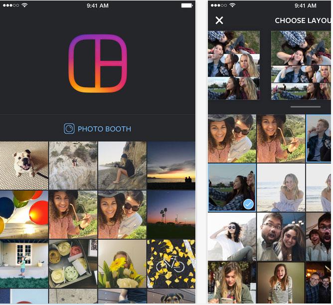 Родное приложение Instagram для создания коллажей